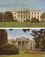 USA 1960/70 Two Different Superb Mint Coloured Pc's The White House WASHINGTON - Washington DC