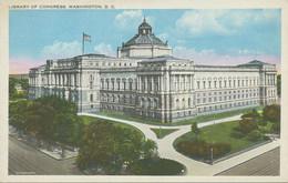 "USA Ca. 1930 Superb Mint Coloured Pc ""Library Of Congress, WASHINGTON, D.C."" - Washington DC"