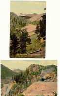 USA 1920 2 Pc's Of Cripple Creek, Short Line Colorado, USA, Colored, Unused, VFU - Trains