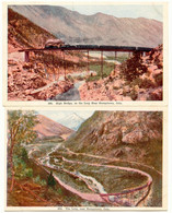 USA 1920 2 Pc's Of The Loop, Near GEORGETOWN Colorado, USA, Colored, Unused, VFU - Trains