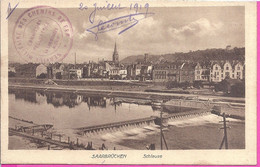 --    SAARBRUCKEN -- SCHLEUSE -- 1919 -- CACHET MILITAIRE DES CHEMINS DE FER - Saarbruecken