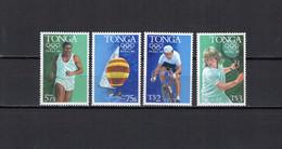 Tonga 1988 Olympic Games Seoul, Cycling, Tennis Etc. Set Of 4 MNH - Verano 1988: Seúl