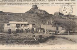 CPA 63 Chemin De Fer Au Sommet Du Puy De Dôme Train Locomotive Chocolat Menier - Sonstige Gemeinden