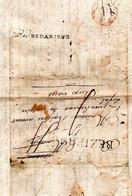 J456 Hérault Déboursé De Bedarieux 1784 Sur LAC En Partance De Beziers - 1701-1800: Precursors XVIII
