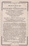 SAFFELAERE VERHOOSELE Richard époux BEURINCK 1823-1890 DP - Obituary Notices