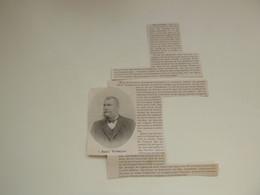 """Origineel Knipsel ( C 564 ) Uit Tijdschrift  """" Ons Volk """"  1911 :   Remi Verheyen  Olmen   Hoboken - Unclassified"""