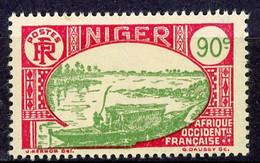 NIGER- Yv.  79   *  90c  Embarcation Cote 2  Euro BE   2 Scans - Ongebruikt