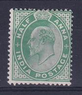 India: 1902/11   Edward      SG121    ½a  Yellow-green    MH - 1902-11  Edward VII