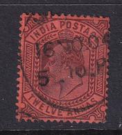 India: 1902/11   Edward      SG135    12a       Used - 1902-11 King Edward VII