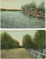 USA 1920 2 Different Coloured Postcards (another Americhrom-Serie) LAKEWOOD - Other