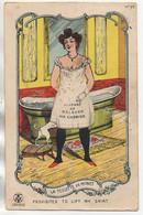 Humour Carte Système  La Toilette De Minet - Humour