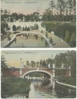 USA 1920 5 Different VFU/superb Handcoloured Postcards (Leon A. Taylor) LAKEWOOD - Other