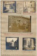 """St Souplet _ St Hilaire-le-Petit : 2 Pgs  7 Photos Scènes Allemandes """" Res Feldart Regt N 24 """" Guerre 14-18 En Champagne - Autres Communes"""