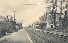 CPA 91 Essonne Ris Orangis La Gare - Ris Orangis