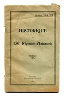 Historique Régimentaire Régiment D'infanterie Infanterie 136e 136 Saint Lo Normandie - Französisch