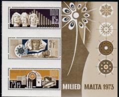 Malta 1973, 478/80 Block 3, Weihnachten,  MNH ** - Malta