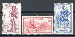 NIGER- Yv.  86 à 88  *  Défense De L'Empire Cote 4,5 Euro BE   2 Scans - Ongebruikt