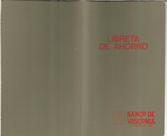 ESPAÑA LIBRETA DE AHORRO ANTIGUA BANCO DE VASCONIA DE PAMPLONA NAVARRA SIN USAR - Spain