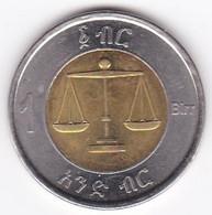 Ethiopie 1 Birr 2002 (2010), Bimétallique , KM # 78 - Ethiopia