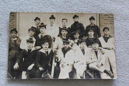 Carte Photo, Groupe De Marins, L'heure De La Pause, Militaria, Marine Nationale - Fotografie
