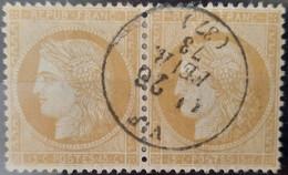 France 1871 N°59 Paire Ob CaD SUPERBE - 1871-1875 Cérès