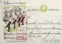 1958 Inteiro Postal Tipo «Conheça As Suas Danças» De 50 C. Enviado De Lisboa - Ganzsachen