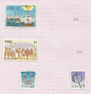 Irlande N°795, 797, 799, 800 Cote 6.75 Euros - Usati