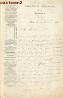 ARMAND LE CHEVALIER ENVOI A JULES JANIN AUTOGRAPHE DEDICACE ECRIVAIN EDITEUR LIBRAIRE IMPRIMEUR LIVRE ATLAS AUTOGRAMM - Handtekening