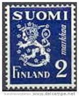 Finland 1930 2.00mk Blauw Leeuwen Type II PF-MNH-NEUF - Neufs