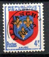 Préoblitéré  Yvert N° 105a - Blason D'Anjou 4f Surcharge Fine à Plat Oblitéré - 1893-1947