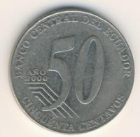 ECUADOR 2000: 50 Centavos, KM 108 - Ecuador