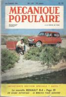 A10 / Old Newspaper REVUE MECANIQUE POPULAIRE 1961 R4 Renault Karts KARTING Automobile - Bricolage / Tecnica