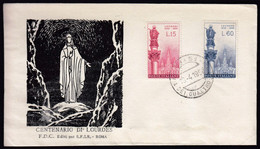 Italy 1958 / 100th Anniversary Of The Apparition Of The Virgin Mary At Lourdes / FDC - F.D.C.