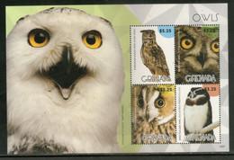 Grenada 2015 Owls Birds Of Prey Wildlife Fauna Sheetlet MNH # 8473 - Eulenvögel