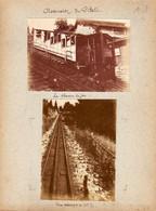 S12-001 1911. Ascension Du Pilate (Suisse). Le Chemin De Fer. Une Rampe De 48%. L'entrée Du Tunnel. Pris Du Tomlishorn - Lugares