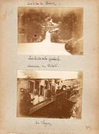 S12-003 1911. Suisse. Le Lac De Brienz. Ascension Du Pilate. Le Wagon. 2 Photos De La Station Eigergletscher - Lugares
