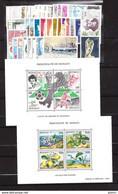 MONACO ANNEE COMPLETE 1990 Du N°1705 Au 1752 + BF 49 à 51 - NEUF * * LUXE - Full Years