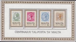 Malta 1985, 719/22 Block 8, 100 Jahre Post Von Malta, MNH ** - Malta