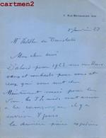 AUTOGRAPHE A. BAILLY DECORATEUR DE L'OPERA DE PARIS ENVOI A Mme CASTELBON DE BEAUXHOSTES OPERA LYRIQUE AUTOGRAMM - Autographs