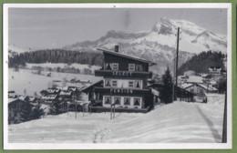 CPSM Rare Type Carte Photo - HAUTE SAVOIE - MÉGEVE - HOTEL SÉLECT PENSION SOUS LA NEIGE - - Megève
