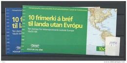 1994 MNH Iceland, Island, Booklets Europa, Postfris - Cuadernillos/libretas