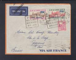 Frankreich France Tunisie Flugpost 1936 Bizerte Nach Schweiz - Storia Postale