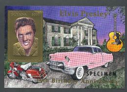 Guyana, 1994, Elvis Presley, Singer, Cadillac, Harley Davidson, Guitar, Gold, SPECIMEN, MNH, Michel Block 403 - Guiana (1966-...)