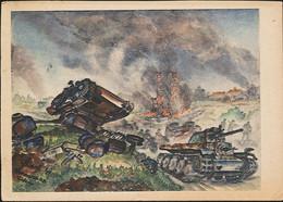 AK/CP Künstlerkarte Wehrmacht  Panzer  Feldpost   Gel/circ. 1943   Erhaltung/Cond. 2-  Nr. 01303 - War 1939-45
