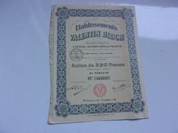 établissements VALENTIN BLOCH (mulhouse) - Ohne Zuordnung