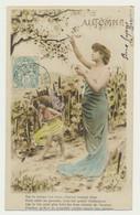 Carte Fantaisie...femme Et Enfant - Saisons  Mois....automne - Vendange - Mujeres