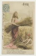 Carte Fantaisie...femme Et Enfant - Saisons  Mois....été - Moisson - Mujeres