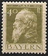 Bavaria 1911 Mint Hinged * Michel 82I 22 Euros - Bavaria