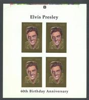 Guyana, 1994, Elvis Presley, Singer, Gold, MNH Imperf PROOF, Michel 4526 - Guiana (1966-...)