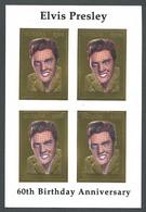 Guyana, 1994, Elvis Presley, Singer, Gold, MNH Sheetlet, Michel 4526 - Guiana (1966-...)